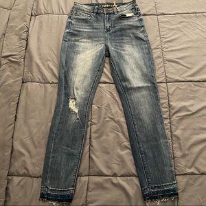 Indigo Rein High Rise Above Ankle Denim Jeans sz 7